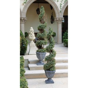 Spiral Faux Boxwood Topiary Trees
