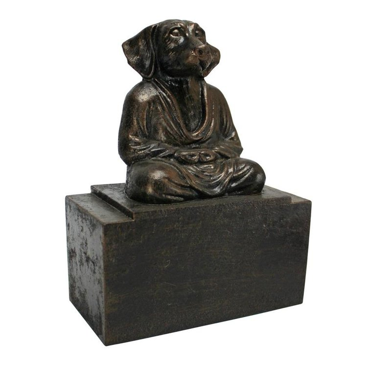 View larger image of Spirit of Zen: Meditating Dog Cast Iron Bookend