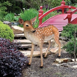 Spotted Deer, Forest Fawn Sculpture