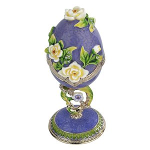 Spring Bouquet Collection Romanov-Style Enameled Egg: Lavender