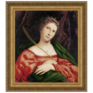 St. Catherine of Alexandria, c. 1523: Canvas Replica Painting: Large