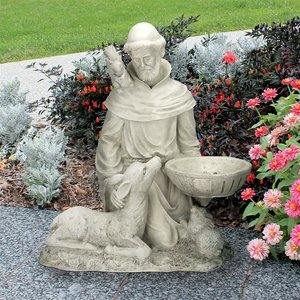 St. Francis Feeds the Animals Garden Statue