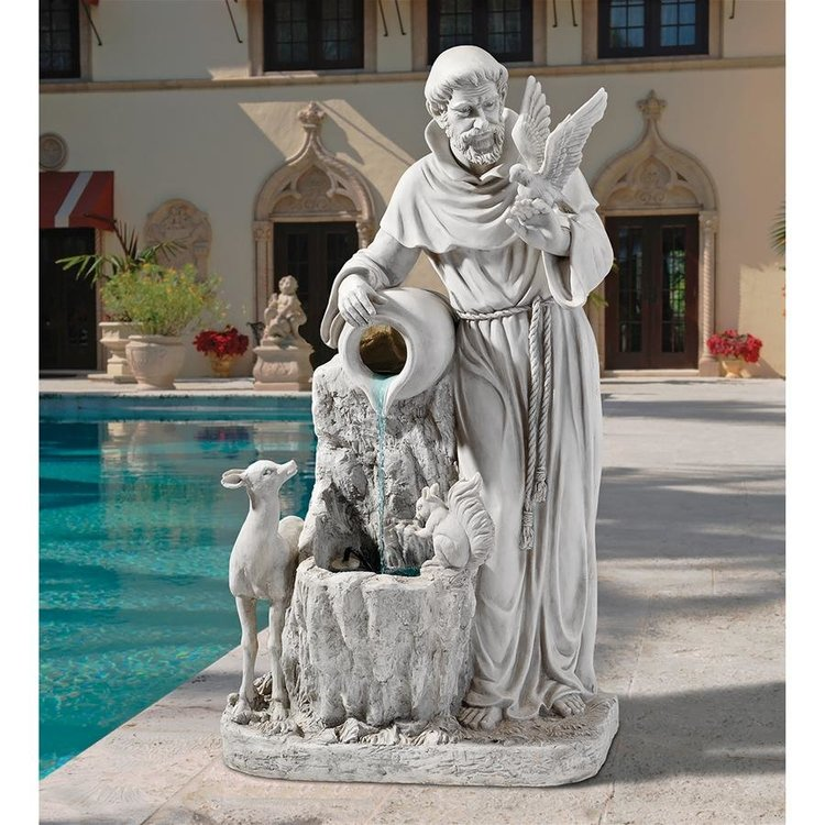 View larger image of St Francis Life Giving Waters Sculptural Fountain