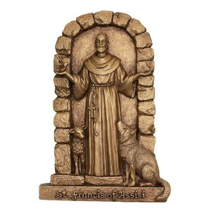 St. Francis of Assisi Welcome to My Garden Wall Sculpture