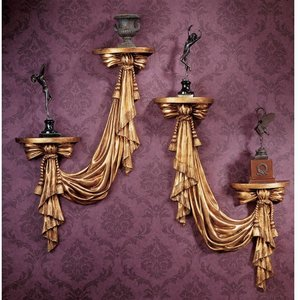 St Louis Draped Sculptural Wall Accents