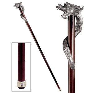 The Padrone Collection: Staff of St. George Pewter Walking Stick