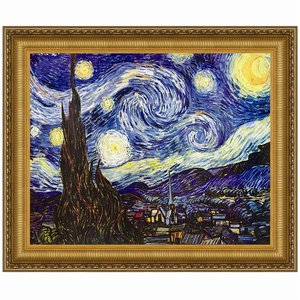 Starry Night, 1889: Canvas Replica Painting: Small