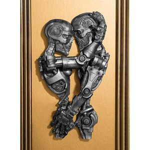 Steampunk Machine-age Sweethearts Wall Sculpture
