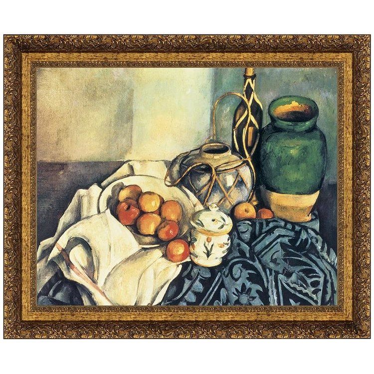 View larger image of Still Life with Apples, 1894: Canvas Replica Painting: Medium