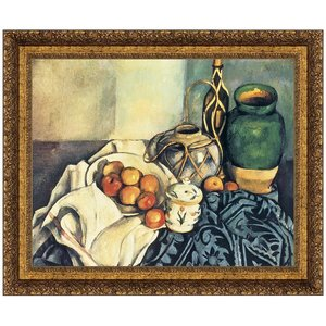 Still Life with Apples 1894: Canvas Replica Painting: Small