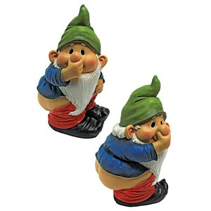 Stinky the Garden Gnome Statue: Set of Two