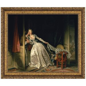 The Stolen Kiss, c. 1788: Canvas Replica Painting: Small