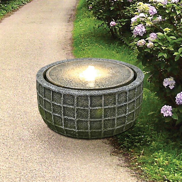 View larger image of Stone Basket Bubbling Garden Fountain
