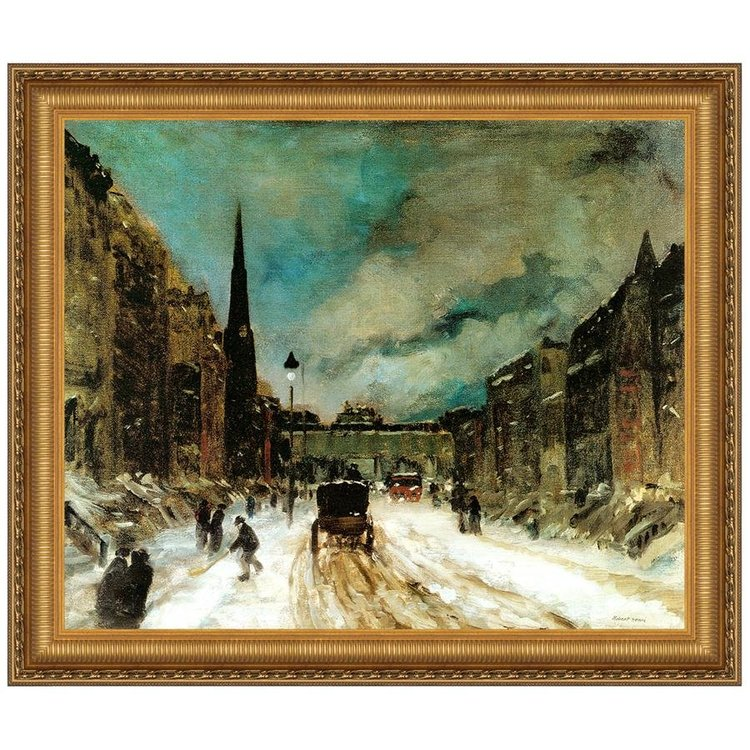 View larger image of Street Scene with Snow, 1902: Canvas Replica Painting: Grande