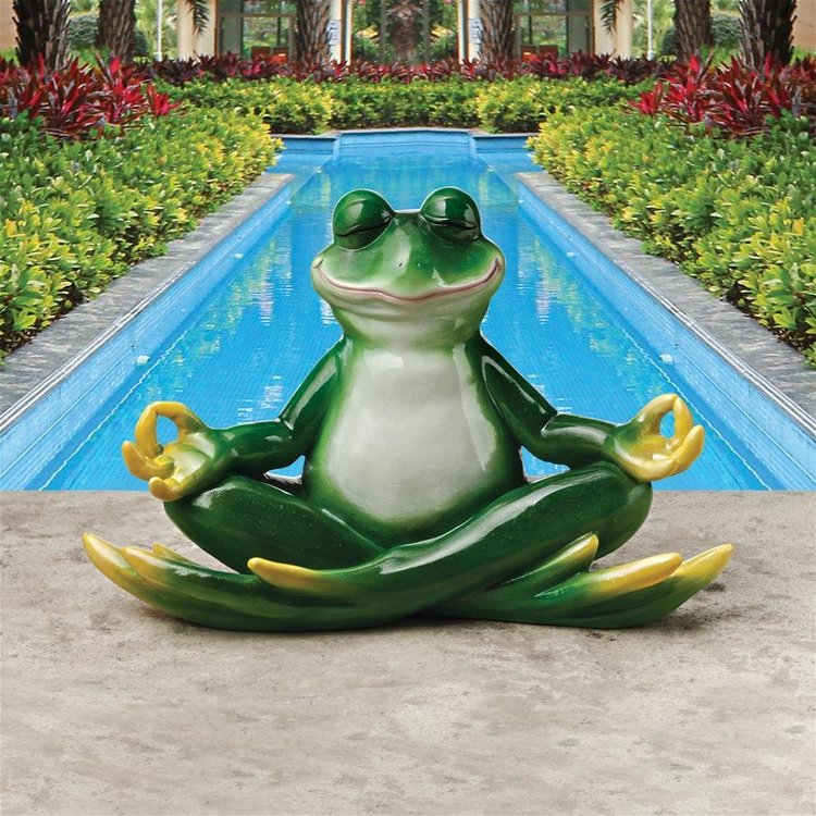 View larger image of Strike a Pose Zen Yoga Frog Statue