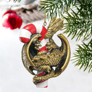 Dragon with a Sweet Tooth Holiday Ornaments
