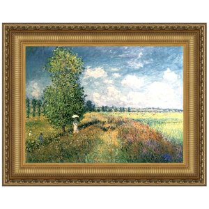 Summer Poppy Field Canvas Painting Small