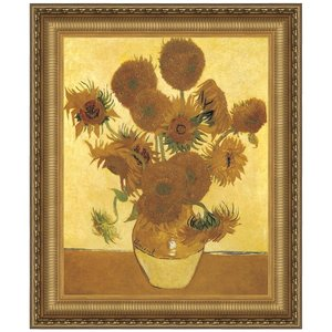 Sunflowers, 1888: Canvas Replica Painting: Small