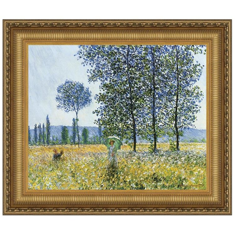 View larger image of Sunlight Effect under the Poplars, 1887: Canvas Replica Painting: Grande