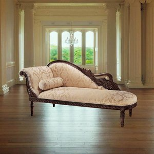 Swan Fainting Couch: Left