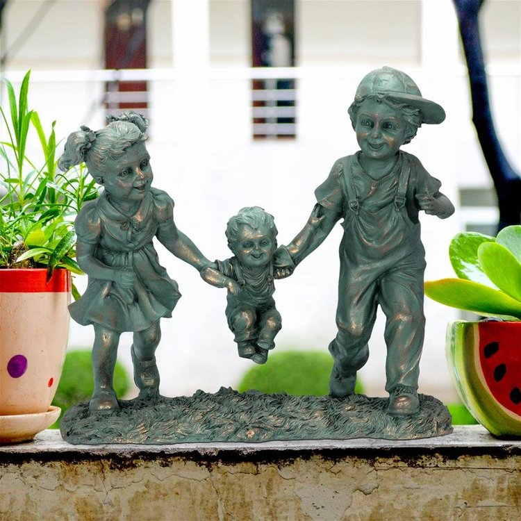 View larger image of Swing Time: Children Garden Statue