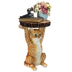 Tabby at Your Service Sculptural Cat Side Table