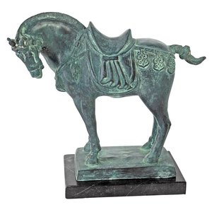 Tang Dynasty Horse Cast Bronze Statue