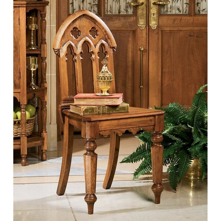 View larger image of The Abbey Gothic Revival Chair: Set of Two