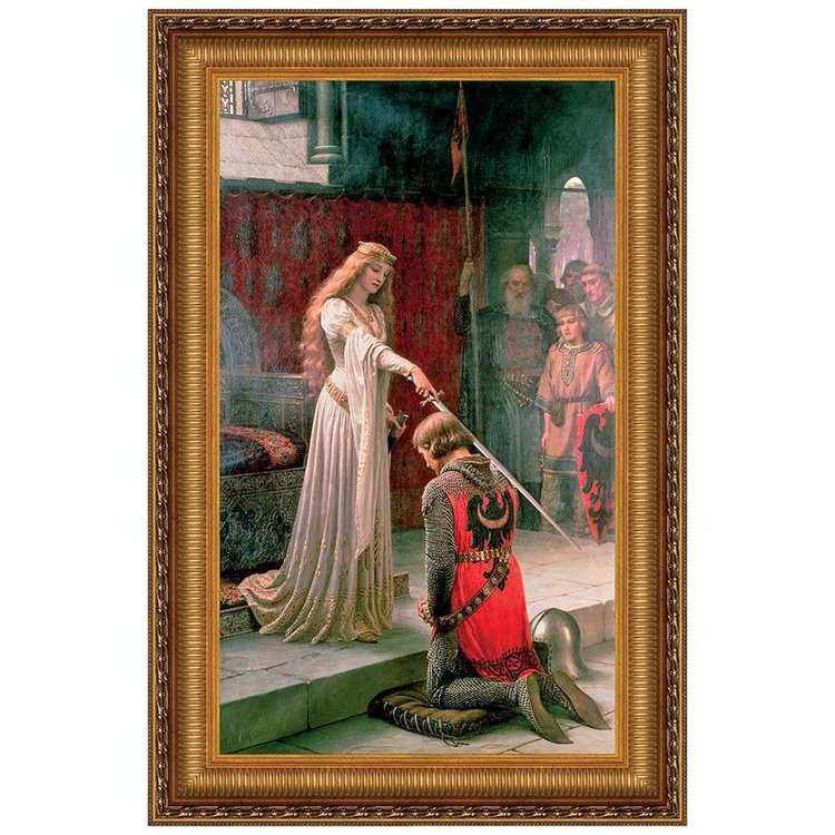 View larger image of The Accolade, 1901: Canvas Replica Painting