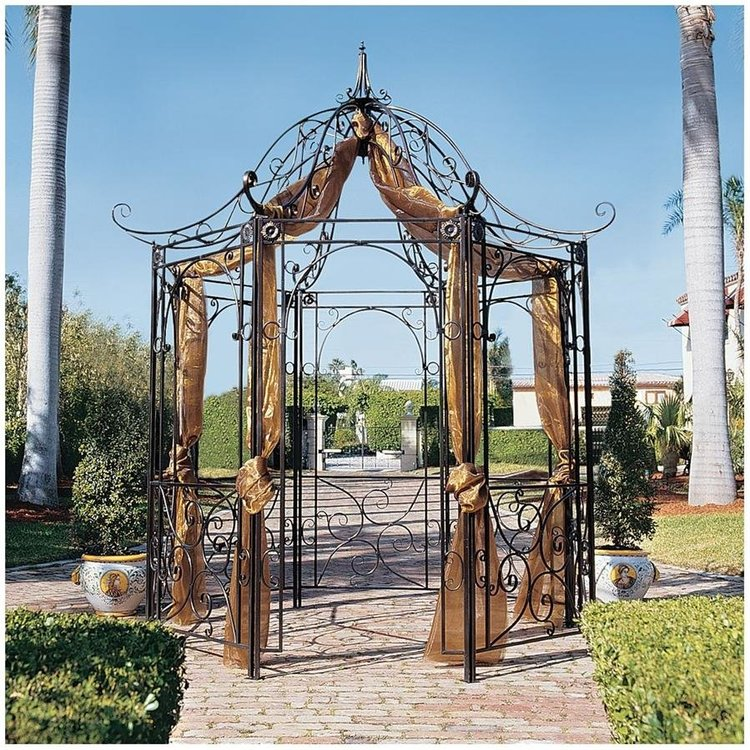View larger image of The Amelie Architectural Steel Garden Gazebo