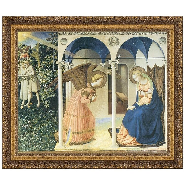 View larger image of The Annunciation Altarpiece, 1426: Canvas Replica Painting: Grande