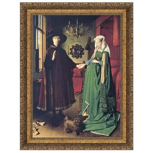 The Arnolfini Marriage 1434: Canvas Replica Painting: Small