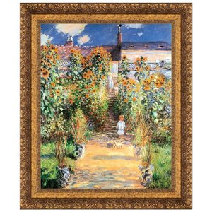 The Artist's Garden at Vetheuil, 1880: Canvas Replica Painting: Large