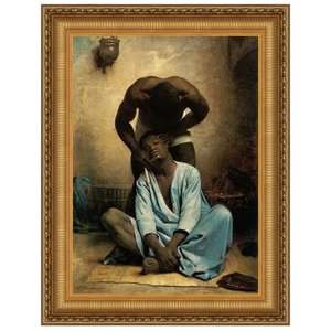 The Barber of Suez, 1876: Canvas Replica Painting: Large