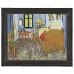 The Bedroom, 1889: Canvas Replica Painting: Grande