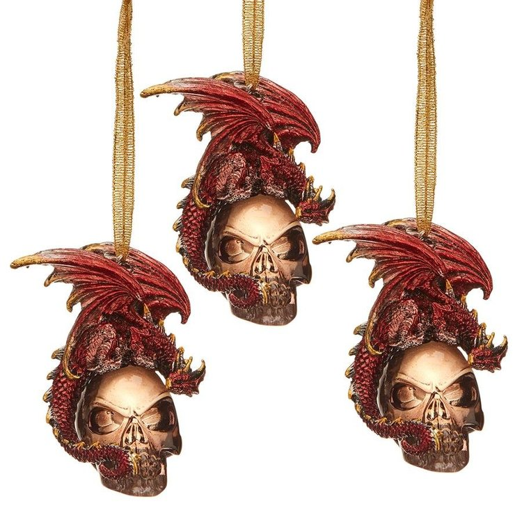 View larger image of The Black Coal Dragon 2016 Holiday Ornament: Set of Three