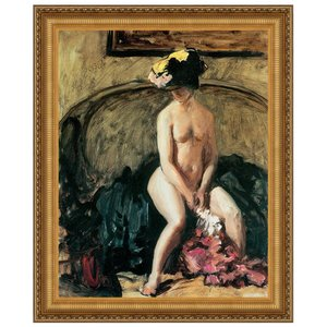 The Black Hat, 1900: Canvas Replica Painting: Large