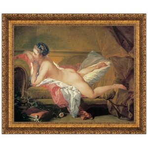 The Blond Odalisque 1752: Canvas Replica Painting: Small