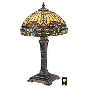 The Carlisle Beaux-Arts Stained Glass Lamp