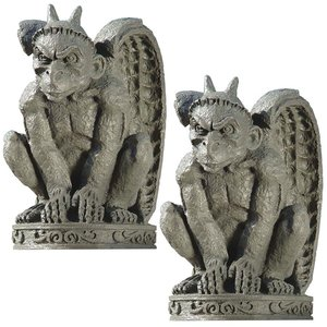 The Cathedral Gargoyle Statue: Set of Two