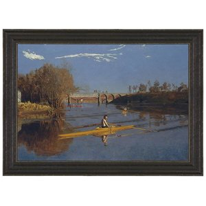 The Champion Single Sculls, 1871 Canvas Replica Painting: Large