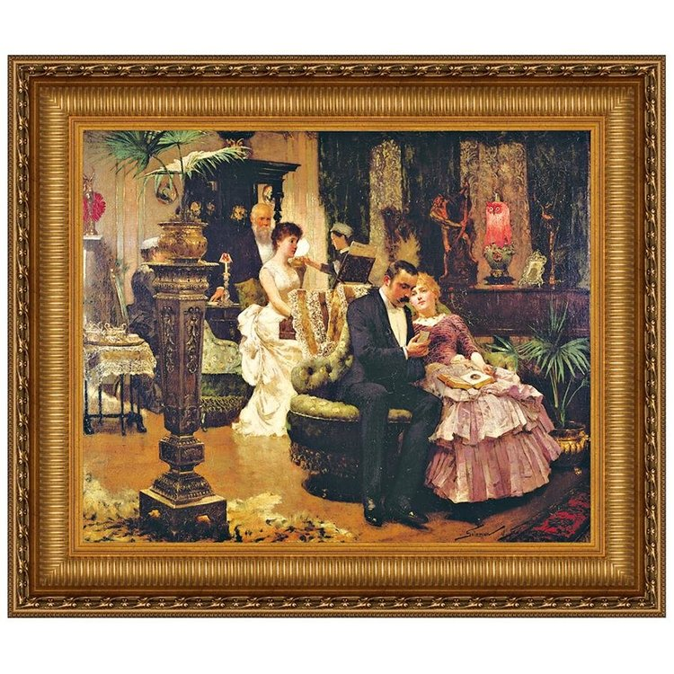 View larger image of The Conversation Piece, Canvas Replica Painting: Large