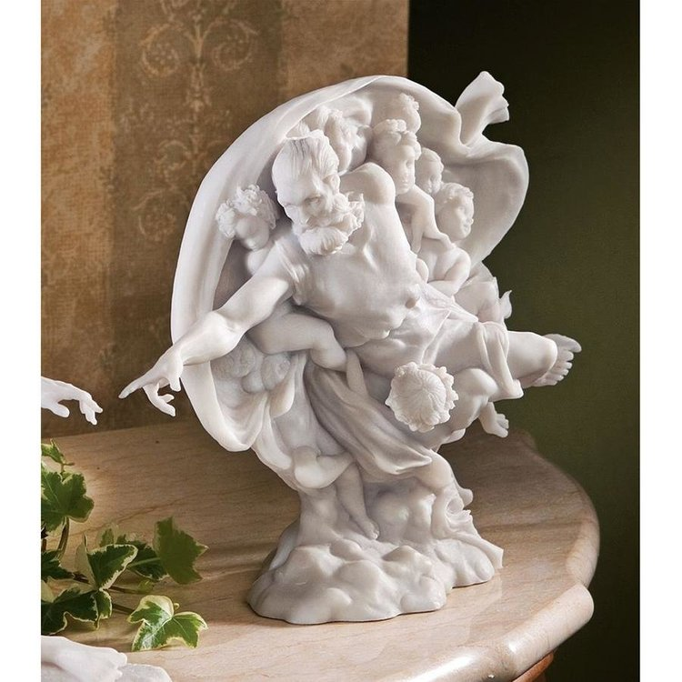 View larger image of The Creation of Adam Bonded Marble Statues: God