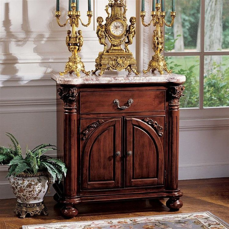 View larger image of The Cremona Marble-Topped Console Table