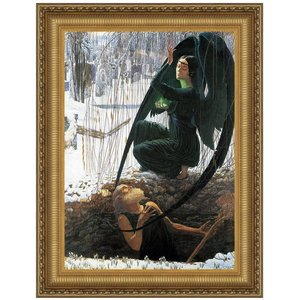 The Death of the Gravedigger 1895: Canvas Replica Painting: Small