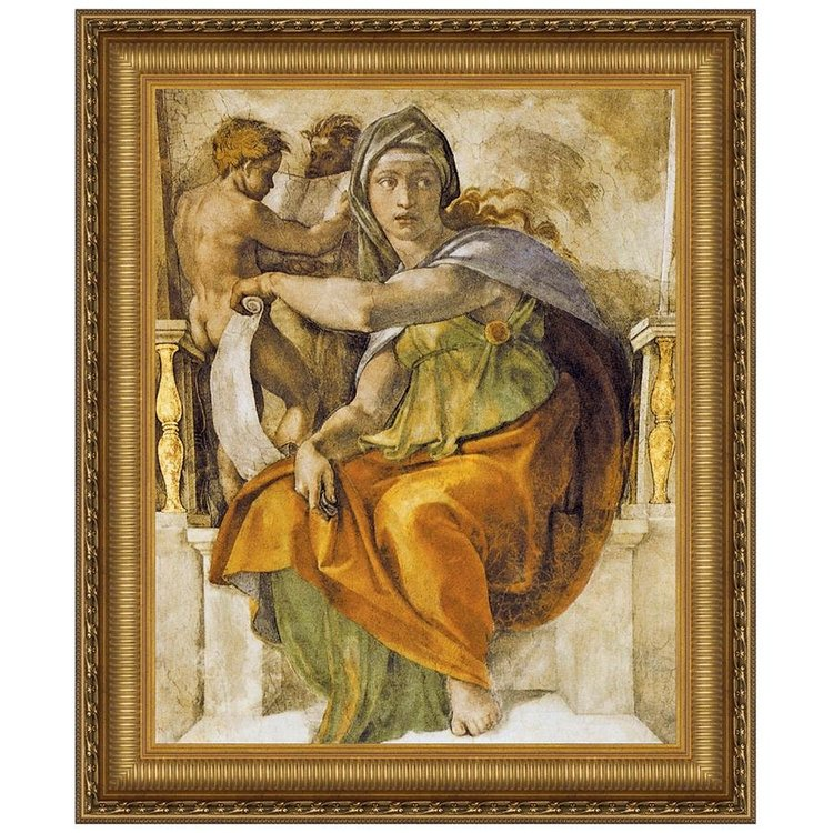 View larger image of The Delphic Sibyl 1509: Canvas Replica Painting: Small