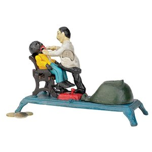 The Dentist Chair: Pulling Teeth Collectors' Die-Cast Iron Mechanical Coin Bank