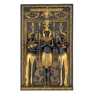 The Egyptian Pharaoh and His Maidens Wall Sculpture