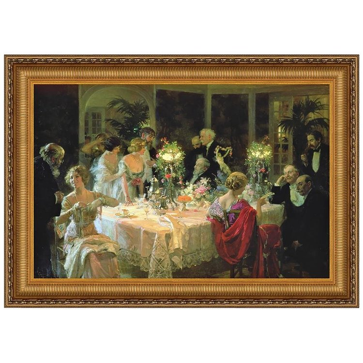 View larger image of The End of Dinner, Canvas Replica Painting: Small