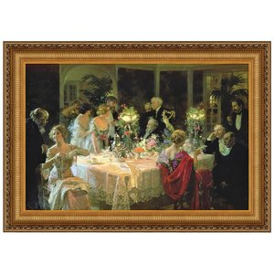 The End of Dinner, Canvas Replica Painting: Small